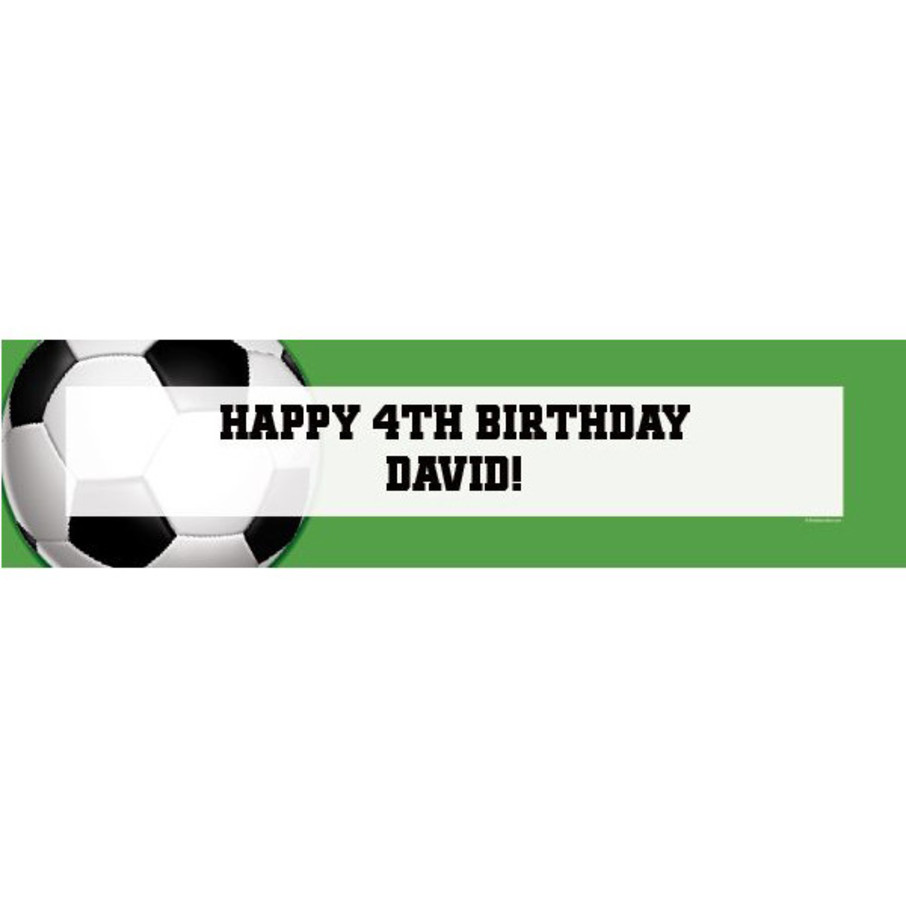 View larger image of Soccer Party Personalized Banner (each)