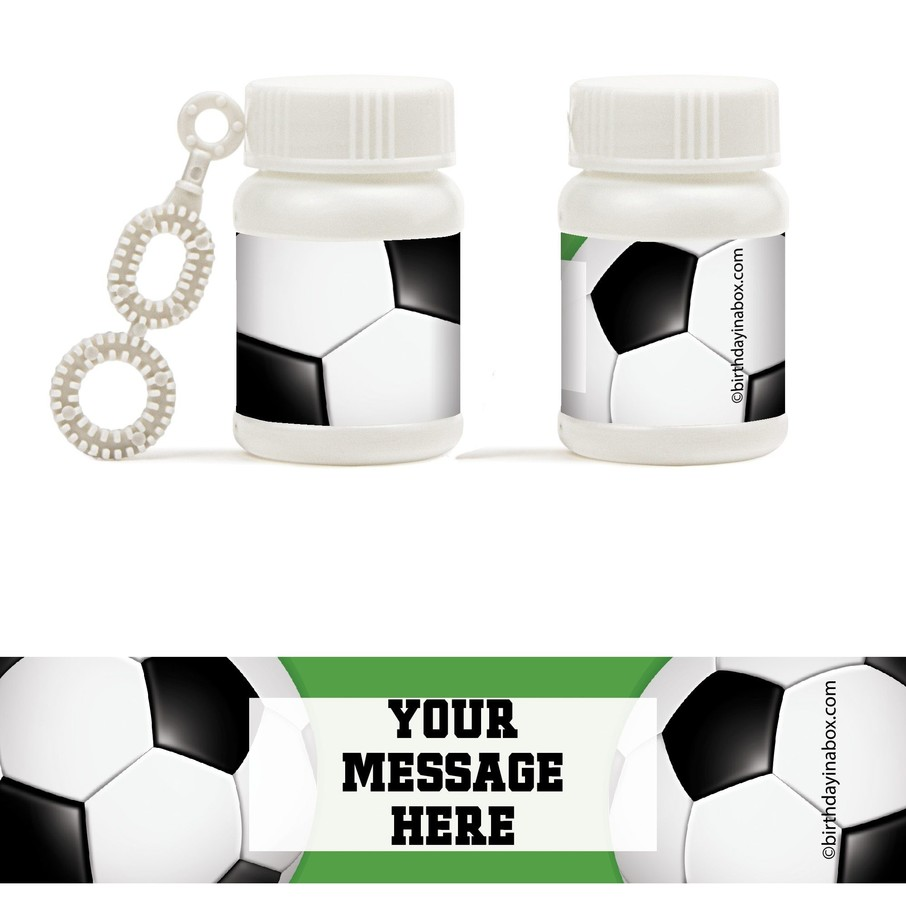 View larger image of Soccer Party Personalized Bubbles (18 Pack)