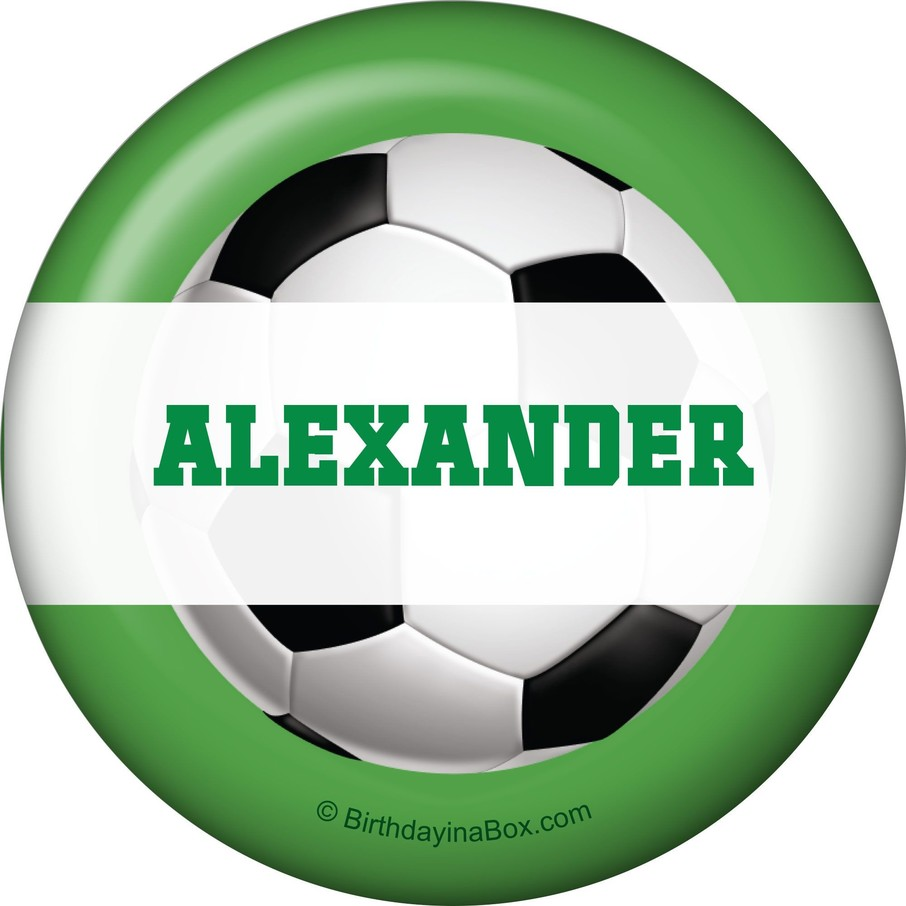 View larger image of Soccer Party Personalized Button (each)