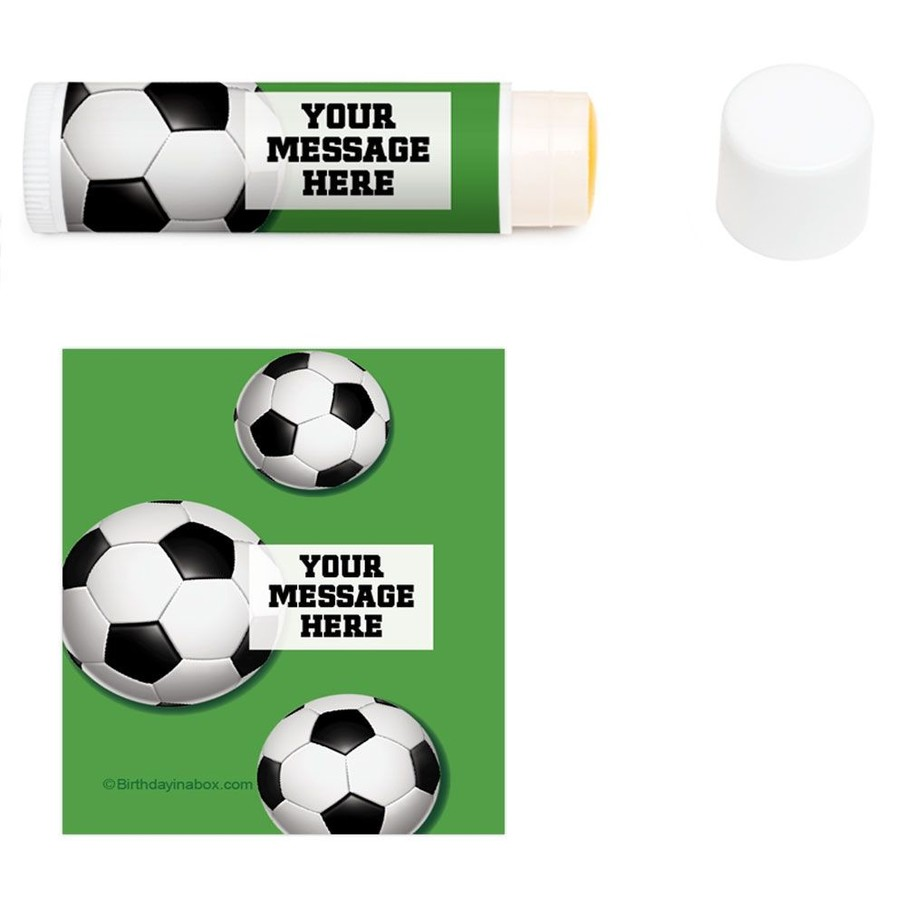 View larger image of Soccer Party Personalized Lip Balm (12 Pack)