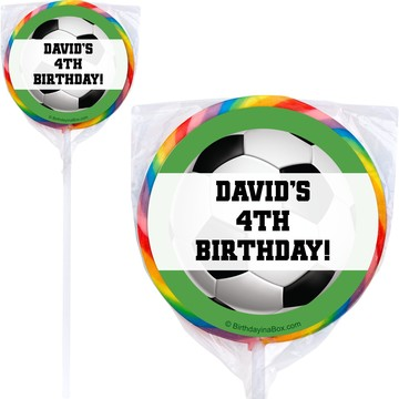 Soccer Party Personalized Lollipop (pack of 12)