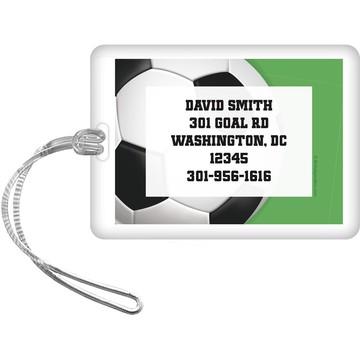 Soccer Party Personalized Luggage Tag (each)