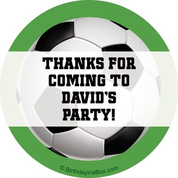Soccer Party Personalized Sticker