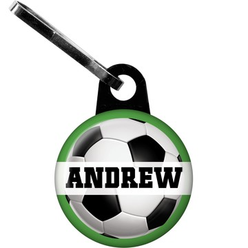 Soccer Party Personalized Zipper Pull (each)