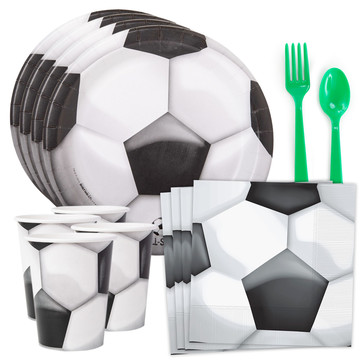 Soccer Party Standard Tableware Kit (Serves 8)