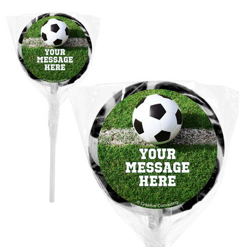 "Soccer Personalized 2"" Lollipops (20 Pack)"