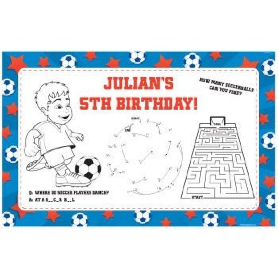 View larger image of Soccer Personalized Activity Mats (8-pack)