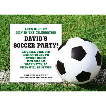Soccer Personalized Invitation (Each)