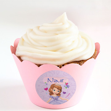 Sofia Personalized Cupcake Wrappers (Set of 24)