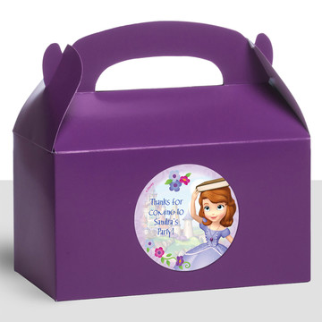 Sofia Personalized Treat Favor Boxes (12 Count)