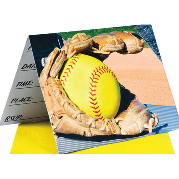 Girl's Fastpitch Softball Invitations (8)
