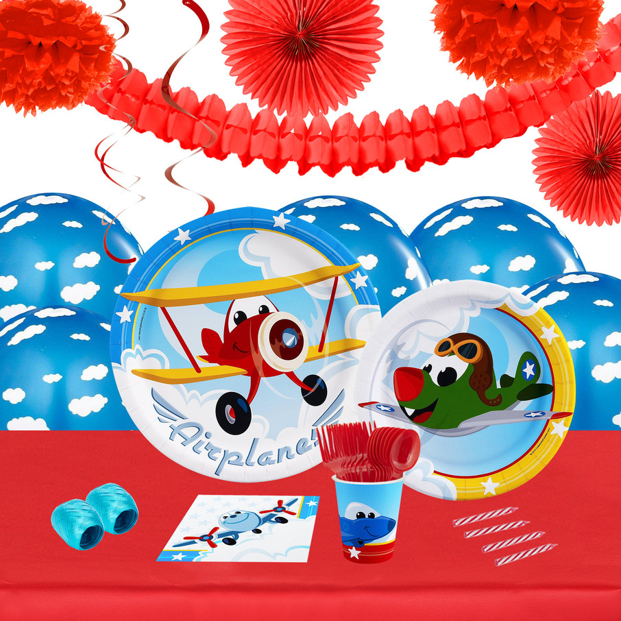 View larger image of Airplane Adventure 16 Guest Tableware Decoration Kit