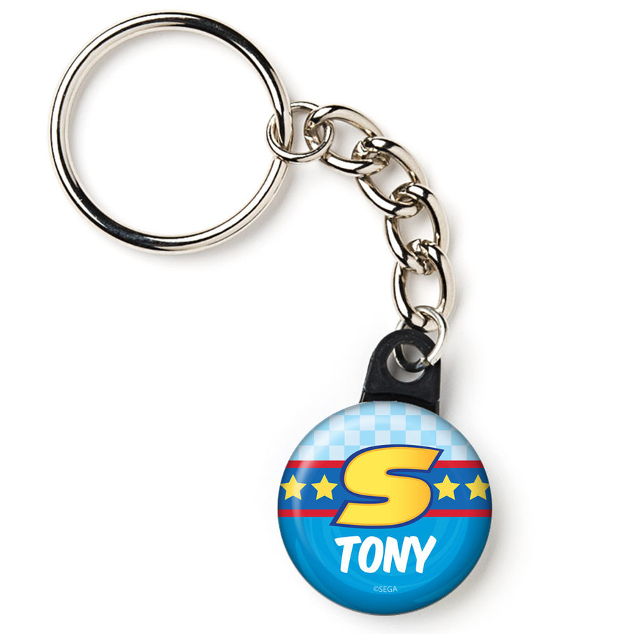 "View larger image of Sonic Personalized 1"" Mini Key Chain (Each)"