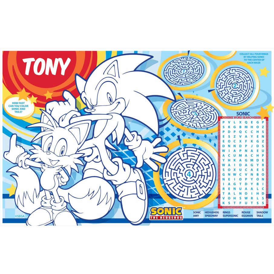 View larger image of Sonic Personalized Activity Mat (8 Count)