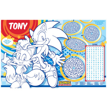 Sonic Personalized Activity Mat (8 Count)