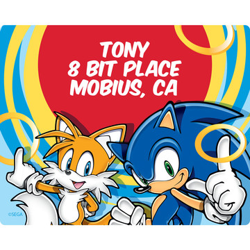 Sonic Personalized Address Labels (Sheet of 15)