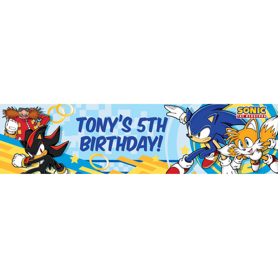 View larger image of Sonic Personalized Banner (Each)