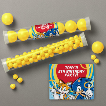 Sonic Personalized Candy Tubes (12 Count)