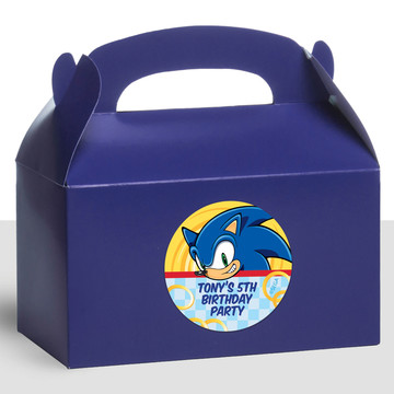 Sonic Personalized Treat Favor Boxes (12 Count)