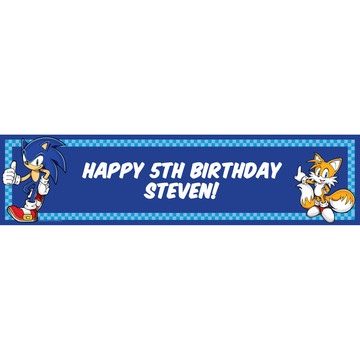 Sonic the Hedgehog Personalized Banner (Each)