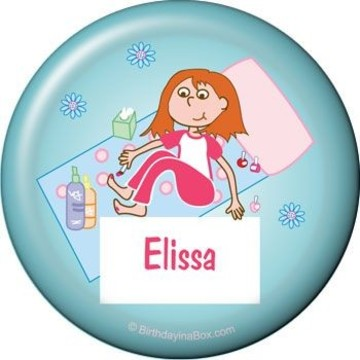 Spa Day Personalized Button (each)
