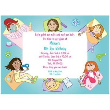 Spa Day Personalized Invitation (each)