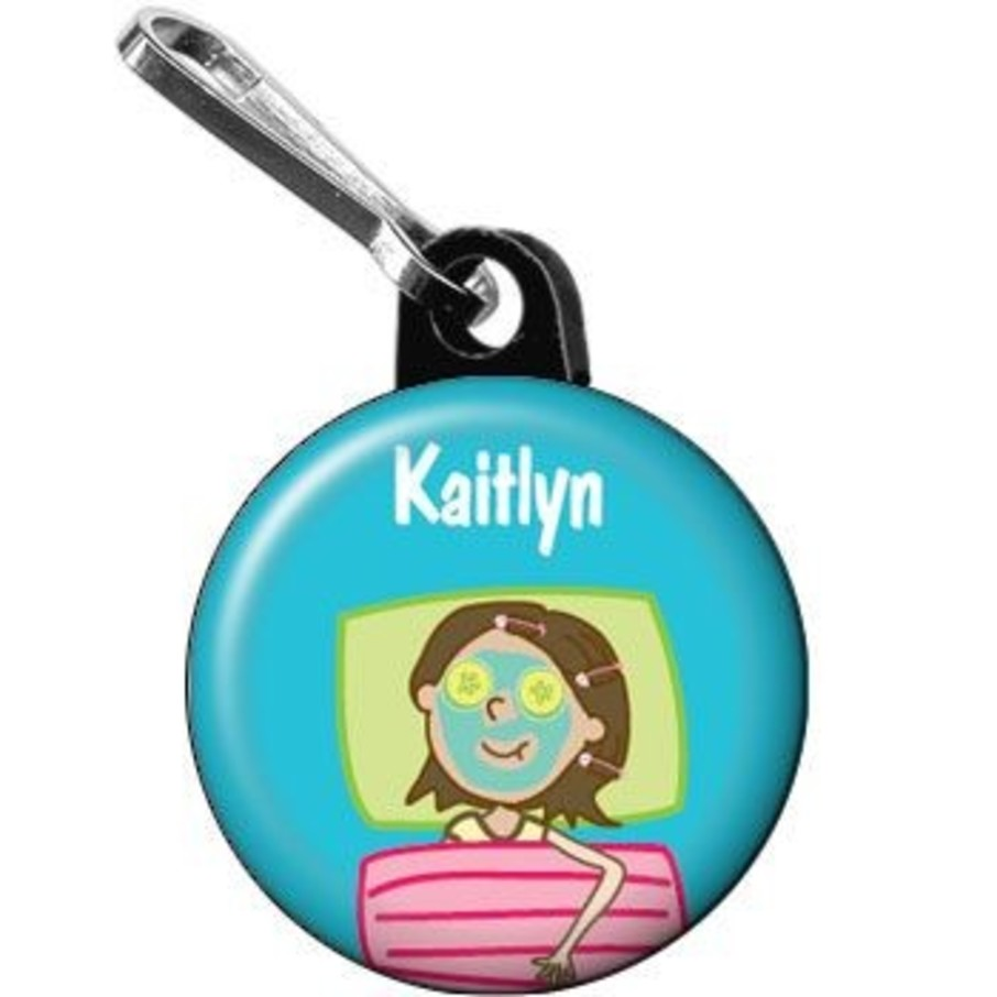 View larger image of Spa Day Personalized Mini Zipper Pull (each)