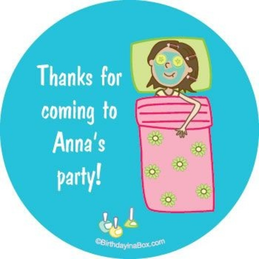 View larger image of Spa Day Personalized Stickers (sheet of 12)