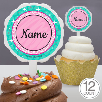 Spa Party Personalized Cupcake Picks (12 Count)