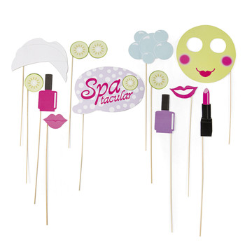 Spa Party Photo Stick Props (12)