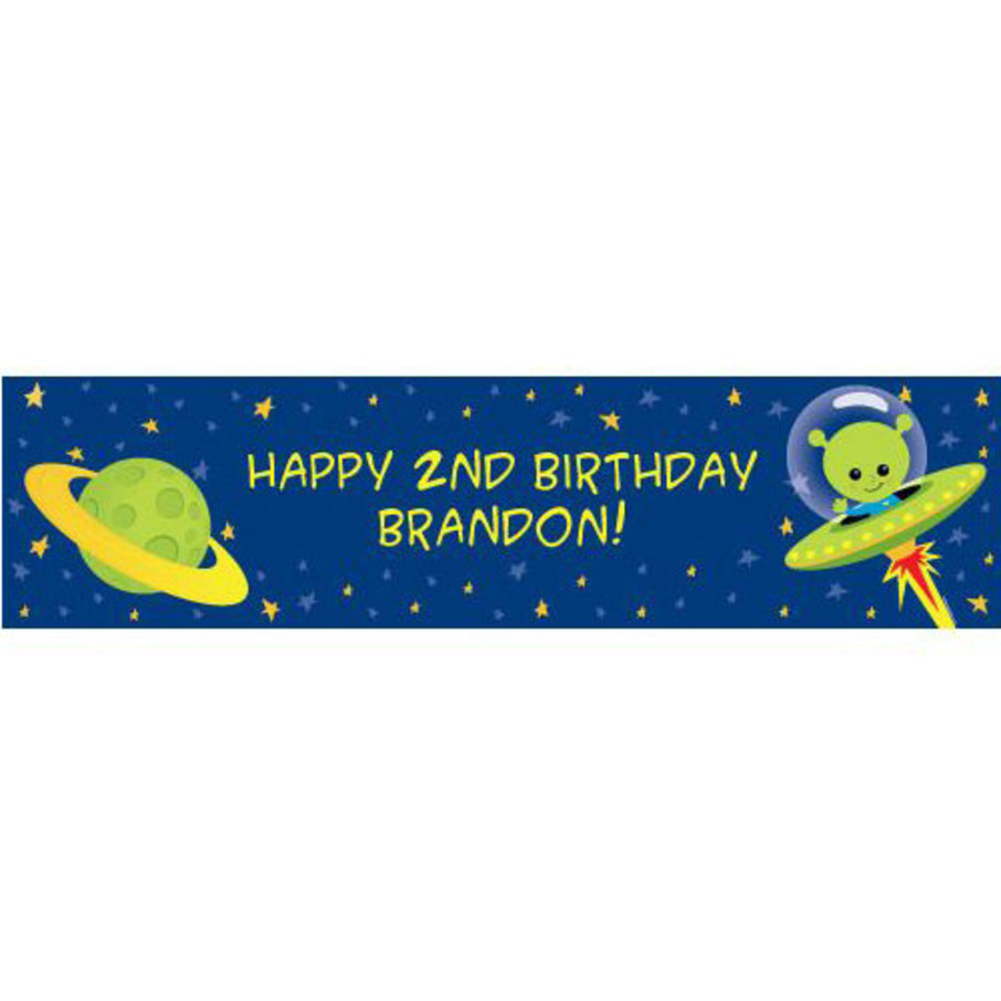 View larger image of Space Alien Personalized Banner (each)