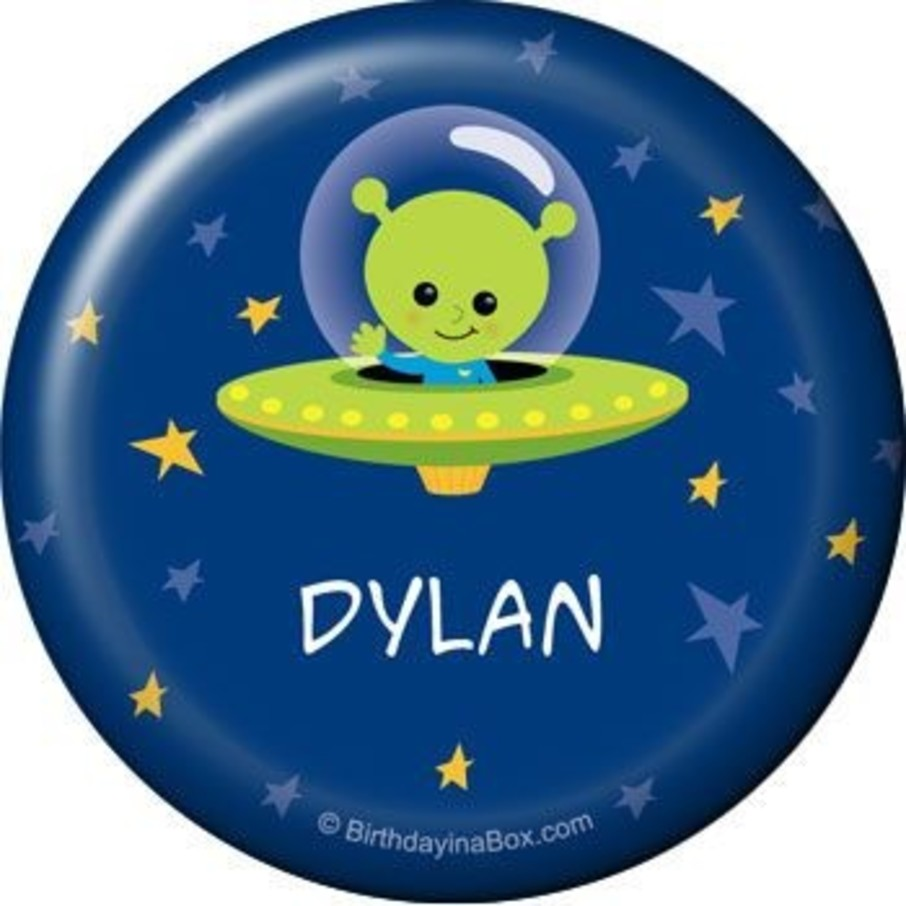 View larger image of Space Alien Personalized Button (each)