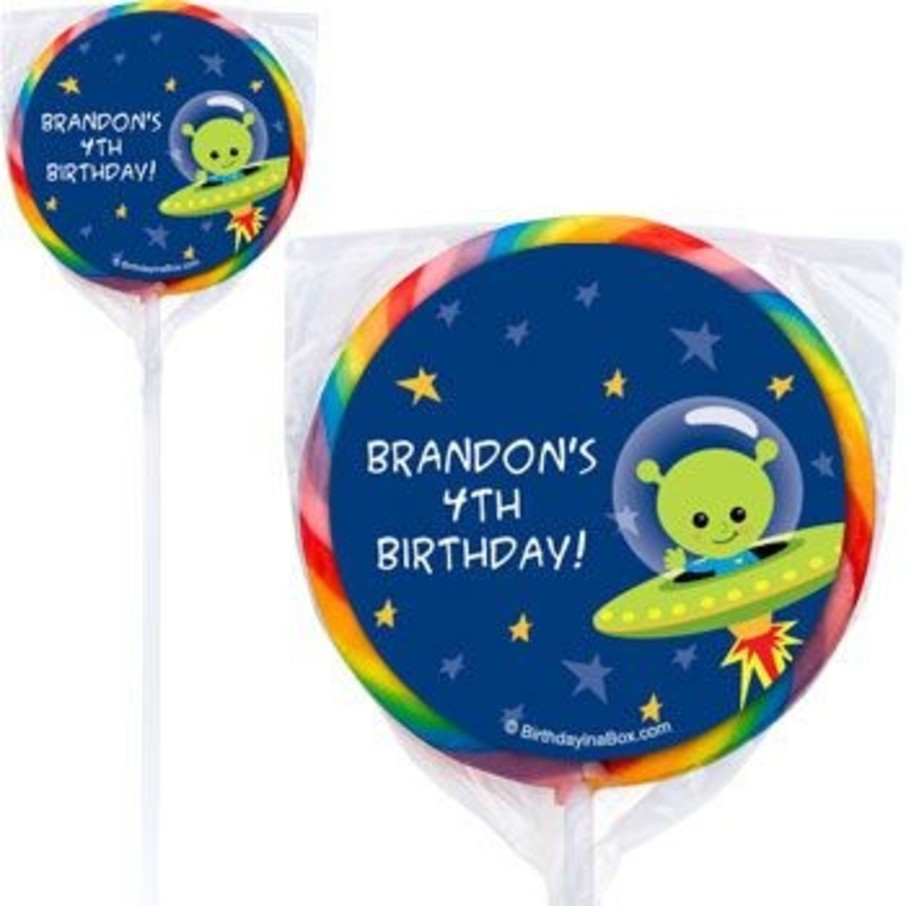 View larger image of Space Alien Personalized Lollipops (pack of 12)