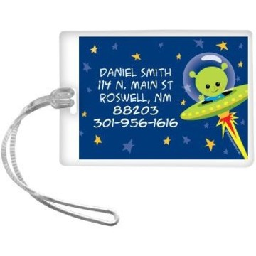 Space Alien Personalized Luggage Tag (each)