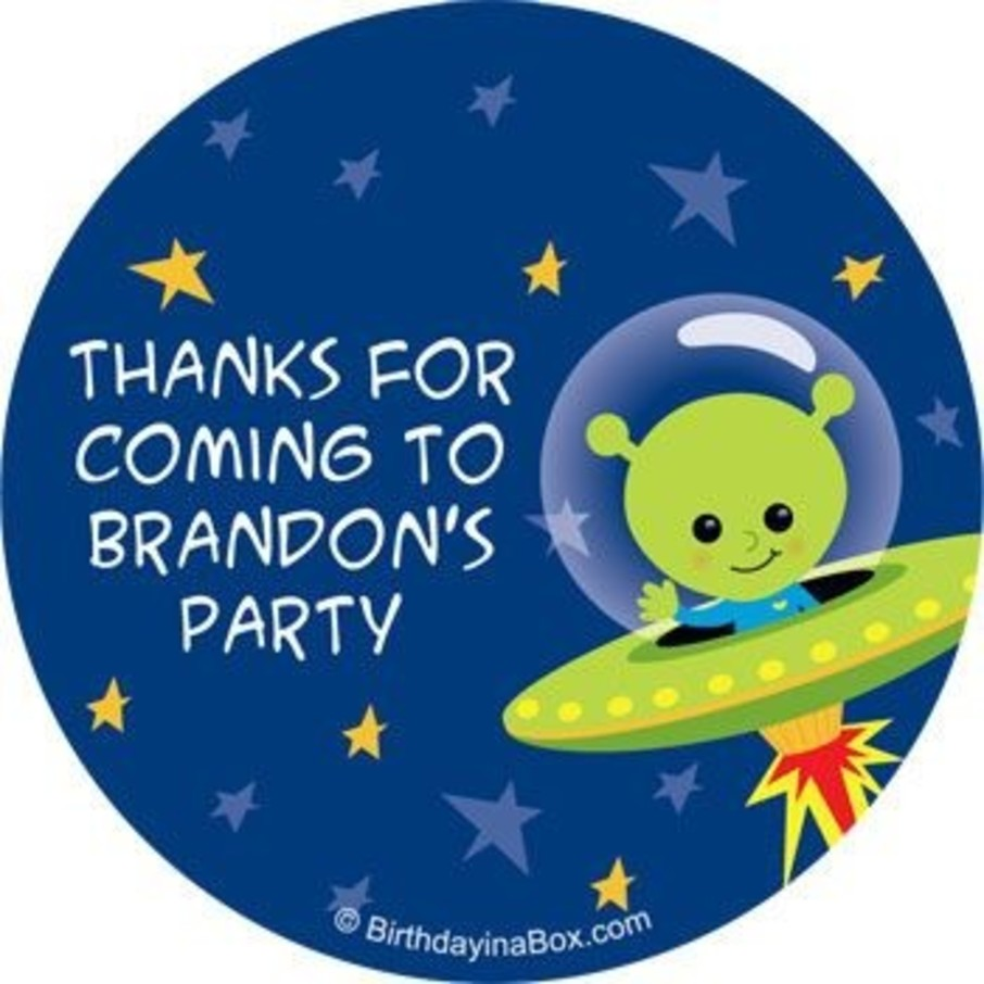 View larger image of Space Alien Personalized Stickers (sheet of 12)