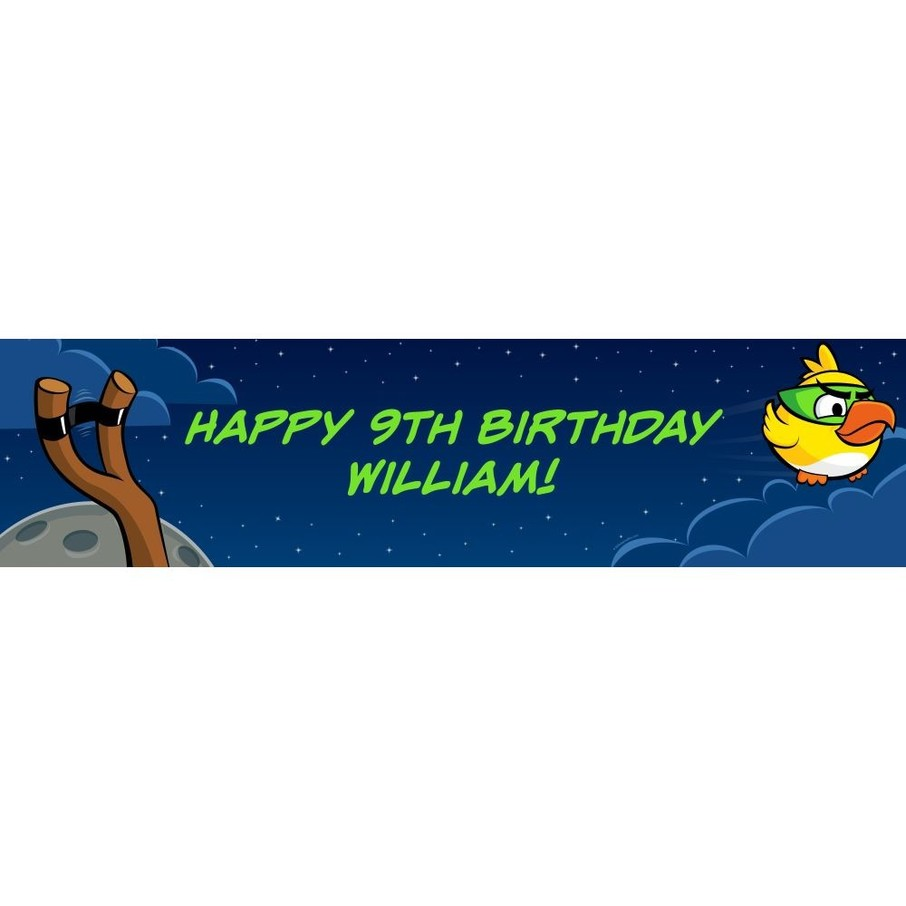 View larger image of Space Birds Personalized Banner (Each)