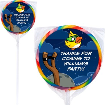 Space Birds Personalized Lollipops (Pack of 12)