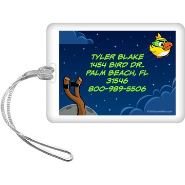 Space Birds Personalized Luggage Tag (Each)