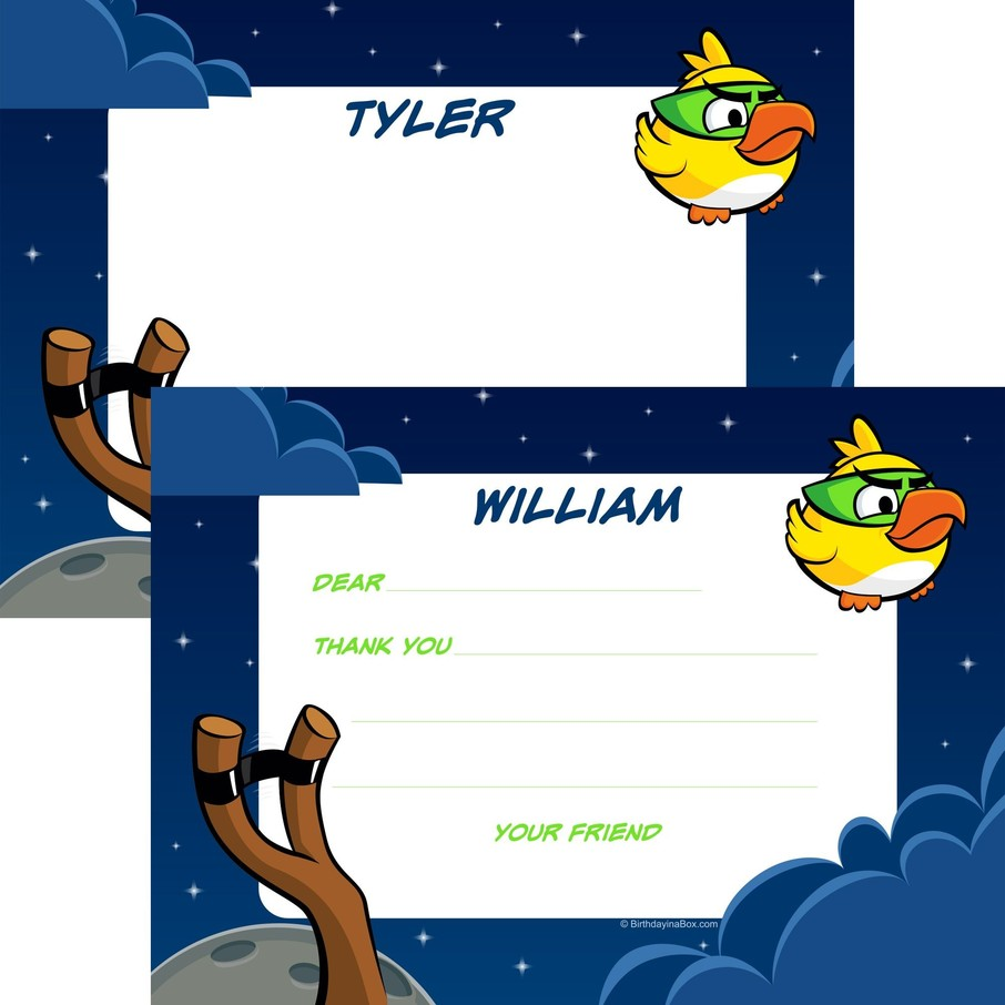 View larger image of Space Birds Personalized Thank You Note (Each)