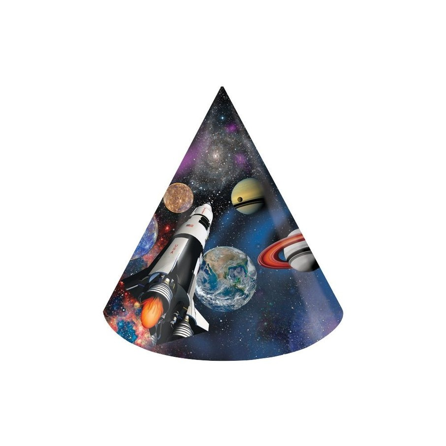 View larger image of Space Blast Paper Party Hats (8 Pack)