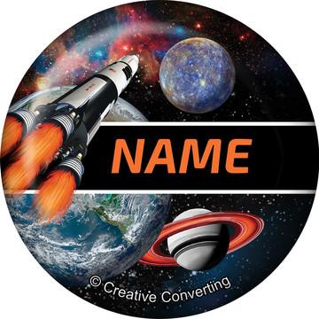 Space Blast Personalized Mini Magnet (Each)