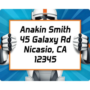 Space Clone Personalized Address Label