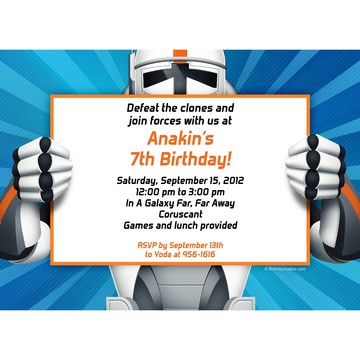 Space Clone Personalized Invitation (each)