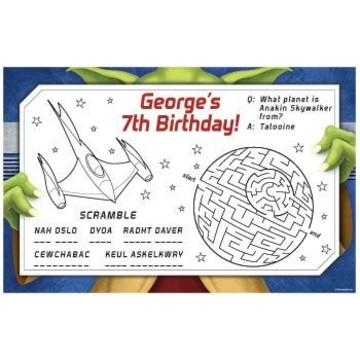 Space Knight Personalized Activity Mats (8-pack)