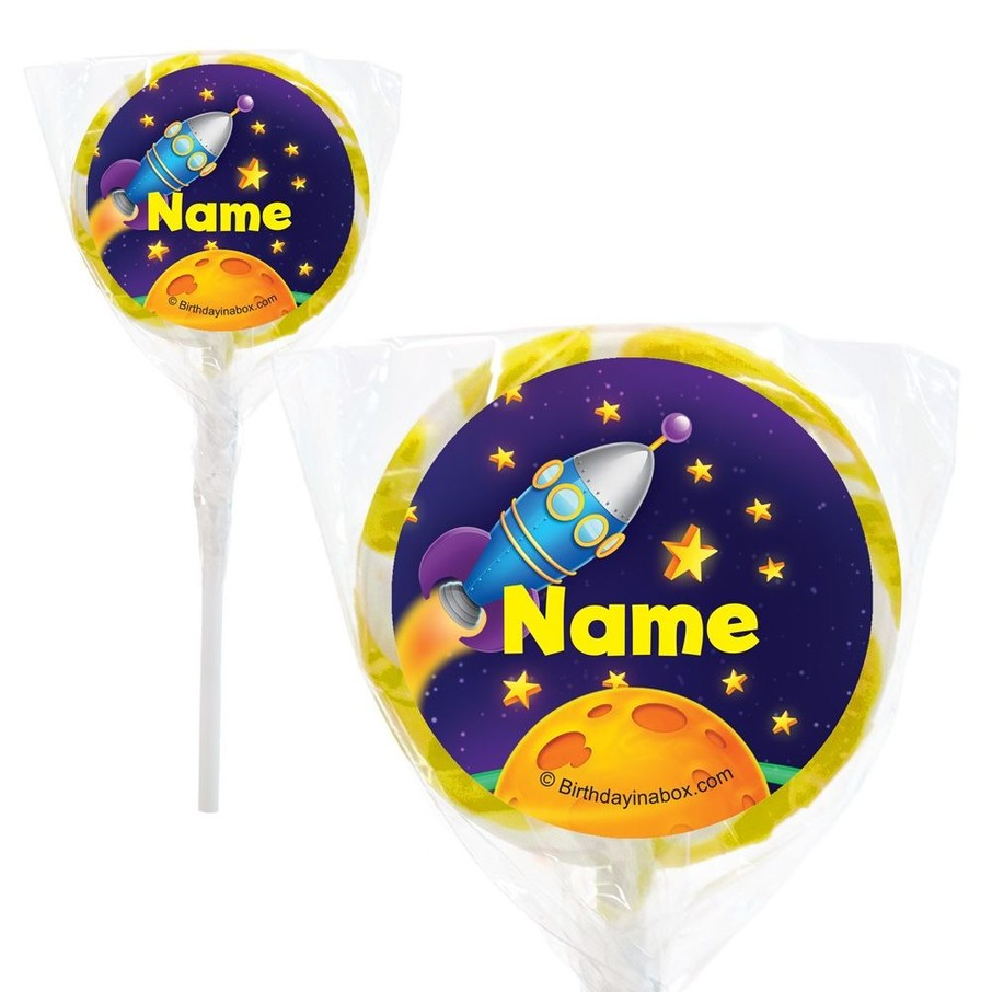"""View larger image of Space Personalized 2"""" Lollipops (20 Pack)"""