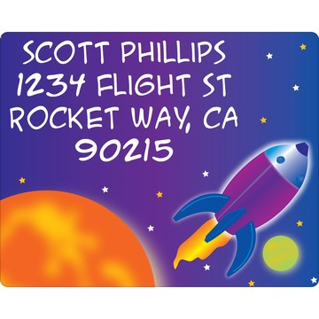 Space Personalized Address Labels