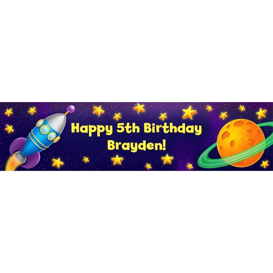 View larger image of Space Personalized Banner (Each)