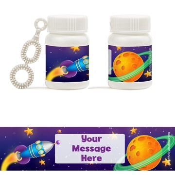 Space Personalized Bubbles (18 Pack)