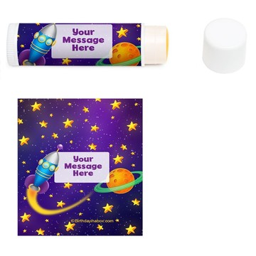 Space Personalized Lip Balm (12 Pack)