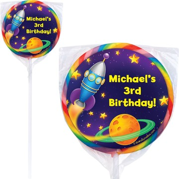 Space Personalized Lollipops (12 Pack)